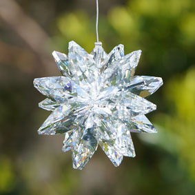 Clear Star cluster Suncatcher made with Swarovski crystals